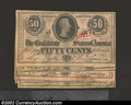 Confederate Notes:1863 Issues, A Variety Set of 1863 T50¢ T-63s, plate letters A through I of ...