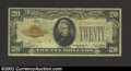 Small Size:Gold Certificates, 1928 $20 Gold Certificate, Fr-2402, Fine. ...