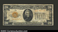 Small Size:Gold Certificates, 1928 $20 Gold Certificate, Fr-2402, Fine. This is an always ...