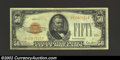 Small Size:Gold Certificates, 1928 $50 Gold Certificate, Fr-2404, VF+. This is a ...