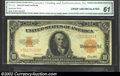 Large Size:Gold Certificates, 1922 $10 Gold Certificate, Fr-1173, CU. CGA-61. This is a ...