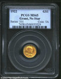 Commemorative Gold: , 1922 Grant no Star MS65 PCGS. The current Coin Dealer ...