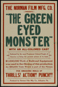 "Movie Posters:Black Films, The Green Eyed Monster (Norman, 1919). One Sheet (28"" X 42). BlackFilms...."