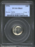 Proof Roosevelt Dimes: , 1956 10C PR 65 PCGS. The current Coin Dealer Newsletter (...