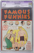 Platinum Age (1897-1937):Miscellaneous, Famous Funnies #3 (Eastern Color, 1934) CGC Apparent FN/VF 7.0Moderate (P) Cream to off-white pages....