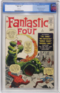 Silver Age (1956-1969):Superhero, Fantastic Four #1 (Marvel, 1961) CGC FN- 5.5 White pages....