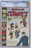 Platinum Age (1897-1937):Miscellaneous, Popular Comics #1 (Dell, 1936) CGC VG 4.0 Off-white to white pages....