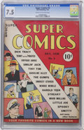 Golden Age (1938-1955):Cartoon Character, Super Comics #3 (Dell, 1938) CGC VF- 7.5 Cream to off-whitepages....