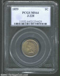 Patterns: , 1859 Indian Cent, Judd-228, Pollock-272, R.1, MS64 PCGS. ...