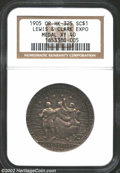 1905 MS Oregon Lewis & Clark Exposition Medal XF40 NGC. So-Called Dollar HK-325