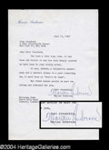 Autographs, Marian Anderson Typed Letter to Joan Crawford