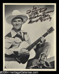 Autographs, Gene Autry Great Signed Photo