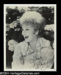 Autographs, Lucille Ball Signed Photo Lot