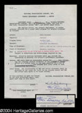 Autographs, Ethel Barrymore Signed Television Contract