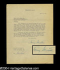 Autographs, Tony Bennett Early Signed Document