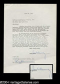 Autographs, Jack Benny Signed Document