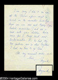 Autographs, Ingrid Bergman Handwritten Letter to Joan Crawford