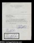 Autographs, Dan Blocker Rare Signed Bonanza Document
