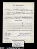 Autographs, Ray Bolger Signed Document