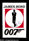 Autographs, James Bond 007 Signed Poster w/ Connery, Brosnan, & Moore!