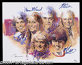 Autographs, The Brady Bunch Cast Signed Lithograph