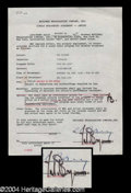 Autographs, Yul Brynner Signed Document