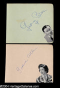 Autographs, George Burns & Gracie Allen Vintage Signature Set