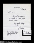 Autographs, Milton Caniff Signed Letter to Joan Crawford