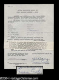 Autographs, Eddie Cantor Signed Television Contract