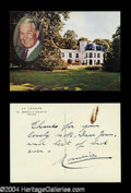 Autographs, Maurice Chevalier Signed Postcard to Joan Crawford