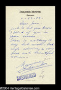 Autographs, Maurice Chevalier Signed Letter to Joan Crawford