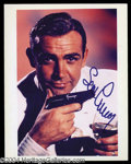 Autographs, Sean Conery Signed James Bond Photo