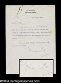 Autographs, Noel Coward Signed Letter to Joan Crawford