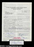 Autographs, Bob Crane Rare Signed Document