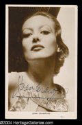 Autographs, Joan Crawford Great Vintage Photograph