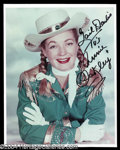 "Autographs, Gail Davis Signed 8 x 10 ""Annie Oakley"" Photo"
