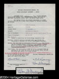 Autographs, Olivia de Havilland Signed Document