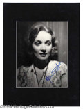 Autographs, Marlene Dietrich Signed Photograph