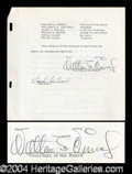 Autographs, Walt Disney Signed Document