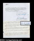 Autographs, Leo Durocher Signed Contract