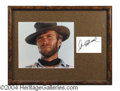 Autographs, Clint Eastwood Signed Framed Display