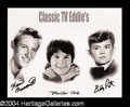 Autographs, Classic 1960's TV Eddies Signed Photograph