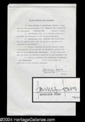 Autographs, Harrison Ford Rare Signed Contract