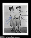 Autographs, Annette Funicello & Doreen Tracy Signed Disney Photo