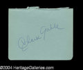 Autographs, Clark Gable Signed Album Page