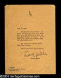 Autographs, Clark Gable Signed Letter