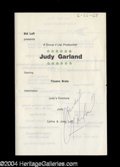 Autographs, Judy Garland Vintage Signed Program