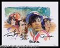 Autographs, Gilligan's Island Cast Signed Lithograph