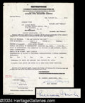 Autographs, Lillian Gish Vintage Signed Document