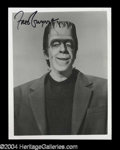 Autographs, Fred Gwynne Signed Munsters Photograph